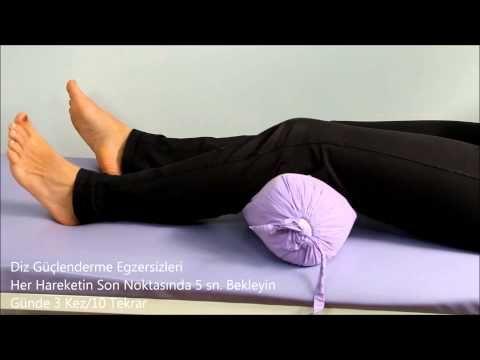 Diz ağrılarını azaltan egzersizler - YouTube