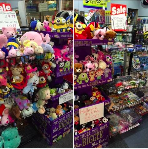 Plushes and soft toys sale. Beanie Boos, Pegga Pigs, Minions, Disneys, Ironman, Superman, Teddies, Giraffes, Pooh Friends & More. New stocks in regularly so come on in and give a hug!