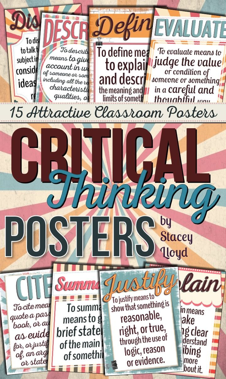critical thinking classroom posters This great display poster is perfect for your classroom display and encourages students to think outside of the box and take risks in math this resource includes.