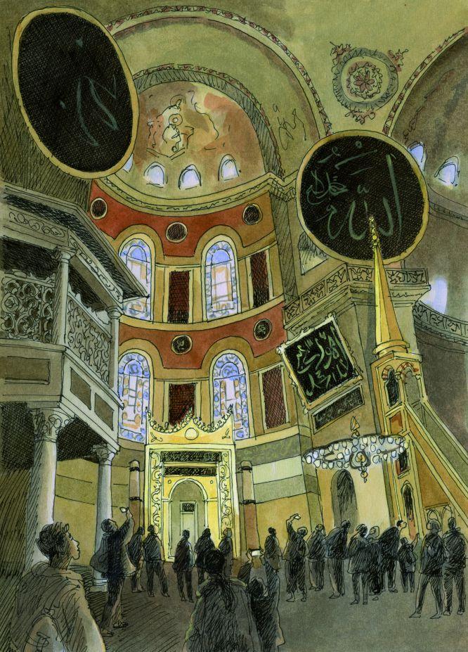 Istanbul, Ayasofya (Sainte Sophie), François Place illustration