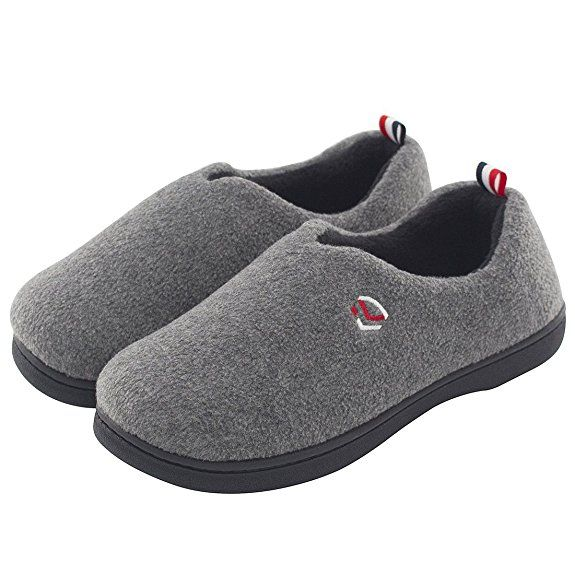 a5cc5f54fc4 Women s Comfort Polar Fleece Slip on Slippers Color Block Memory Foam House Loafers  Shoes w