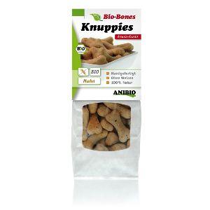Knuppies Bio-Bone de Polloy Aronia, snacks naturales para perros alérgicos con el fruto Aronia, un potente antioxidante y protector gástrico.