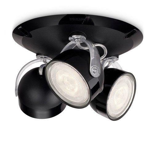 Philips myLiving Dyna - Plafón con 3 focos, iluminación interior, LED, luz blanca cálida, IP20, 15000 h, color negro ✿ ▬► Ver oferta: https://cadaviernes.com/ofertas-de-focos-de-cocina/