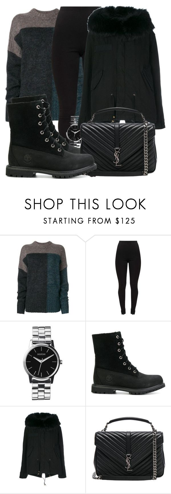 """""""Untitled #5114"""" by beatrizvilar on Polyvore featuring Étoile Isabel Marant, Nixon, Timberland, Mr & Mrs Italy and Yves Saint Laurent"""