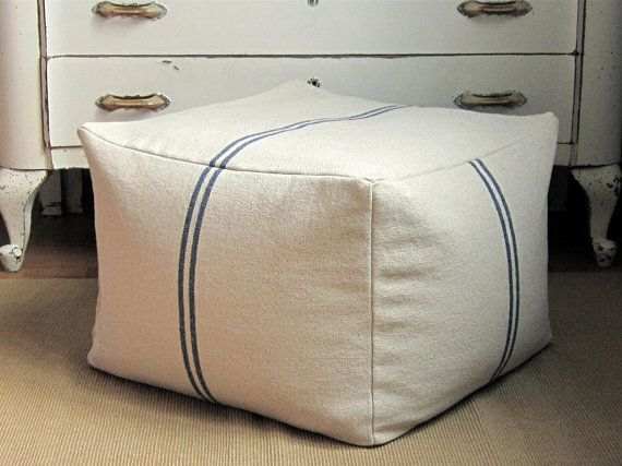 Square Pouf Cover 21x21x15 Large Foot