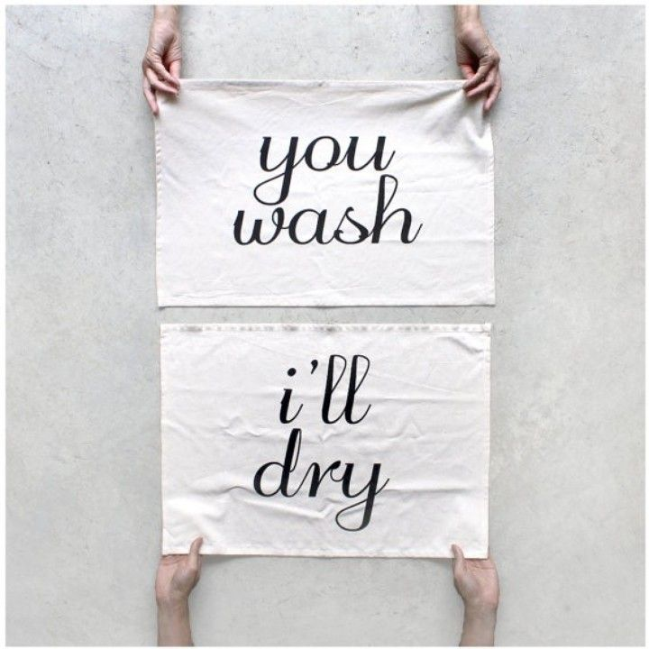Tea Towel Set - You Wash / I'll Dry by Blackbird Tees from Blackbird Tees for $35 on Square Market