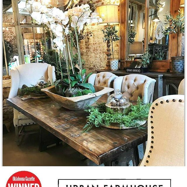 Thank you For #VOTING us The #BEST Furniture Store in OKC for 2017!  We were Announced the #Winners Last Night at The Oklahoma Gazette's 33rd Annual Best of OKC Party. #WeLoveOurCustomers #ThankYou #TheUrbanFarmCrew
