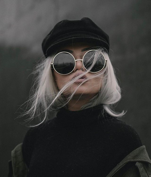 The Grey Layers: OVERSIZE VINTAGE INSPIRED METAL ROUND CIRCLE SUNGLASSES 8370