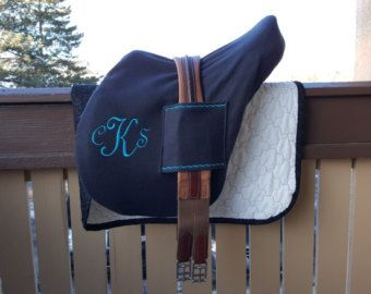 Deluxe English Saddle Cover with Handy Girth Sleeves. Fits BOTH Hunt Seat and Dressage!   AP, GP Monoflap and Saddle Seat too.