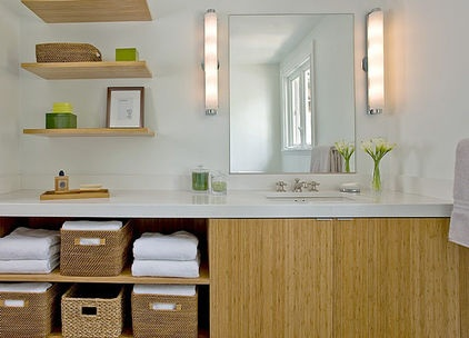 good storage - contemporary bathroom by ZeroEnergy Design