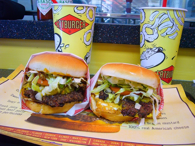Fat Burger- cheesebuger Located on Joint base Pearl Harbor-Hickam :-)