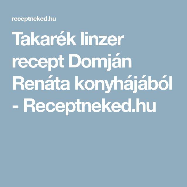 Takarék linzer recept Domján Renáta konyhájából - Receptneked.hu