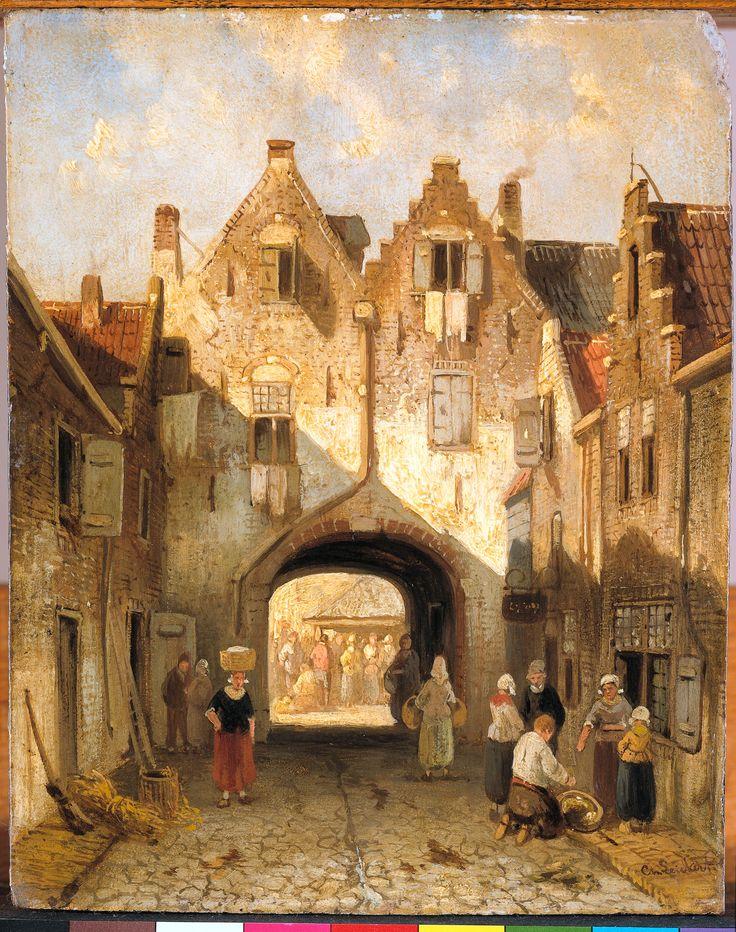 De oude poort  Leickert, Charles    Verv.jaar: 1880