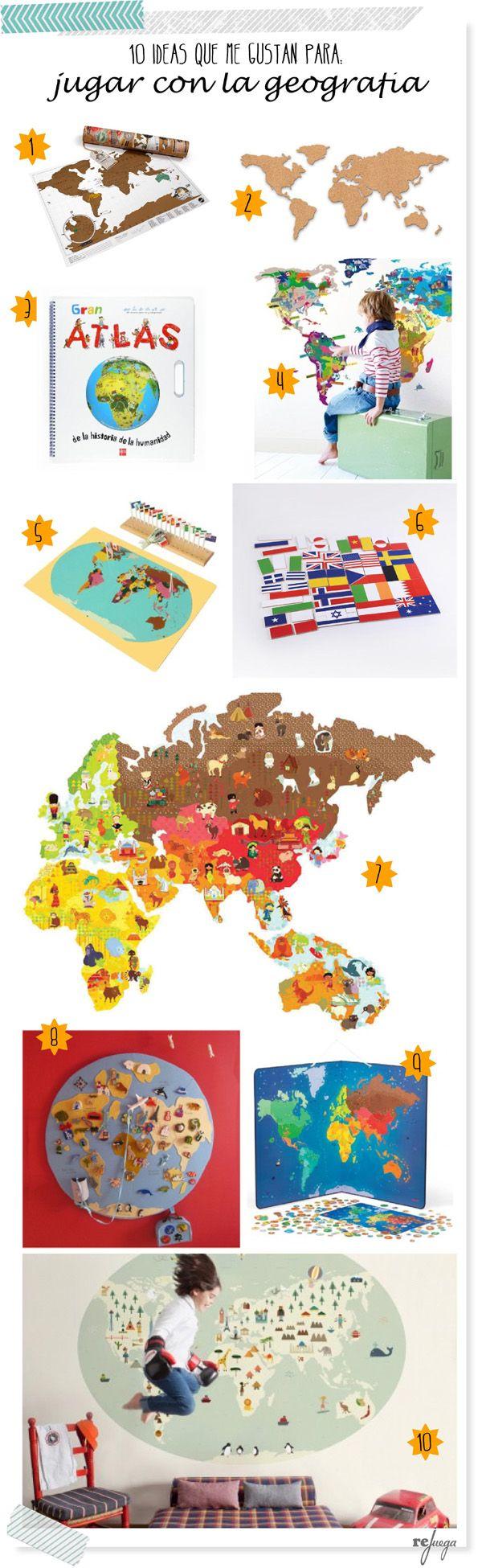 Juegos de geografía para niños: Ideas que te inspirarán para adecuar el juego a vuestras necesidades