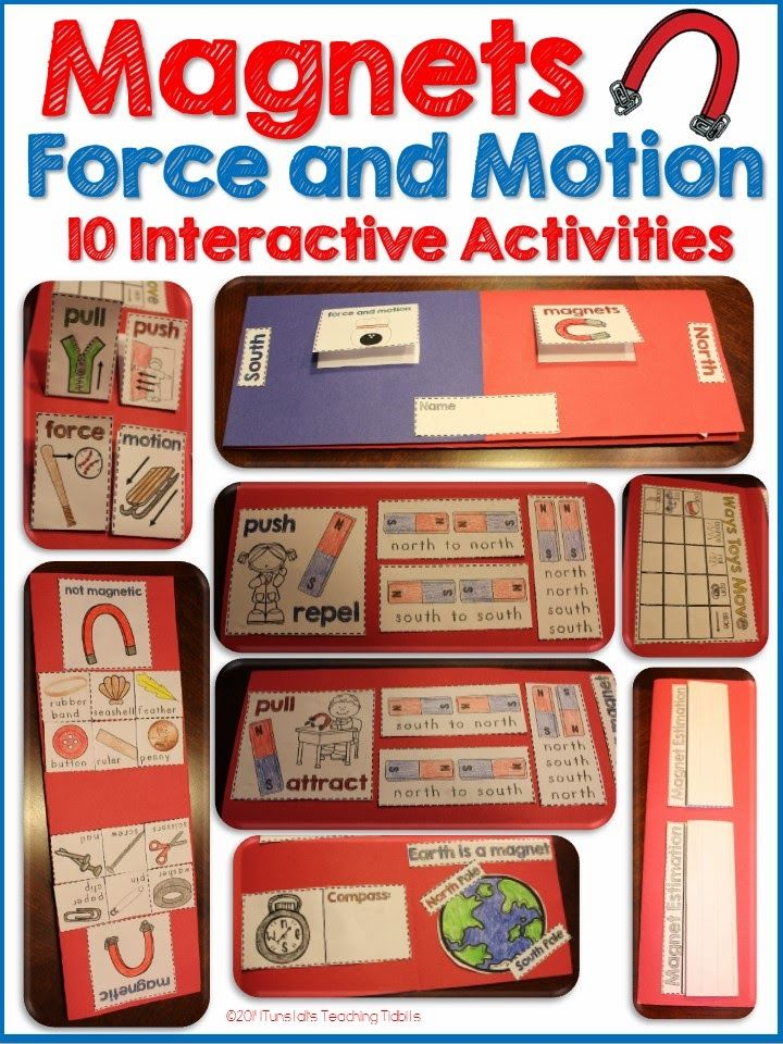 magnets, force and motion, hands on science, magnet fold book, magnet experiments, magnet foldable, magnets at school