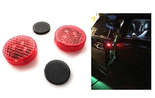 MONDES Car Door Safety Light Reflector / Anti-Collision Warning LED Lights, New Proximity Switch System, Instant Switch On/Off, Easy D.I.Y. No Wiring (Plug-N-Play), Waterproof.  US Seller, 100% Brand new, TOP Quality, Easy to install, No wiring, Just Plug-N-Play! . New LED technology anti-collision lights. Essential Safety Reflector Light to Ensure Protection For You, Others and Your Vehicle.  Waterproof Design, High-tech Proximity Sensor, Durable, Single Battery Standby Time Up to 3 y...