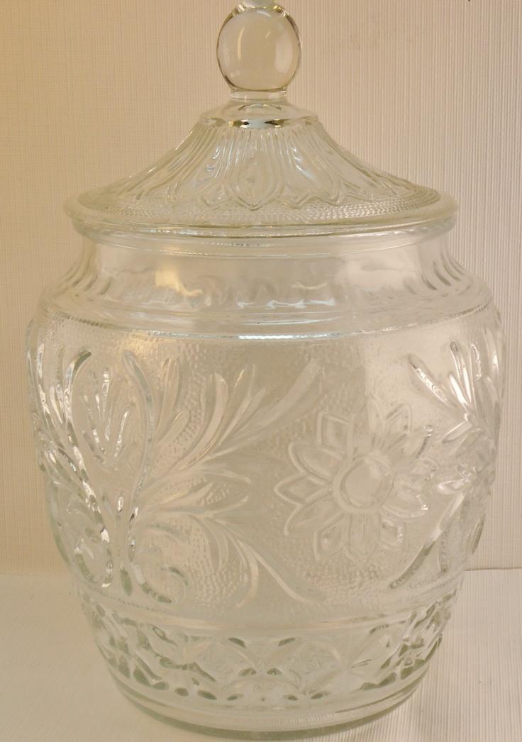 Vintage Glass Cookie Jars