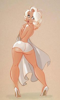 Curvy- girl pin up #illustration   Follow our PIN UP board here --> http://www.pinterest.com/thevioletvixen/pin-up-prints/