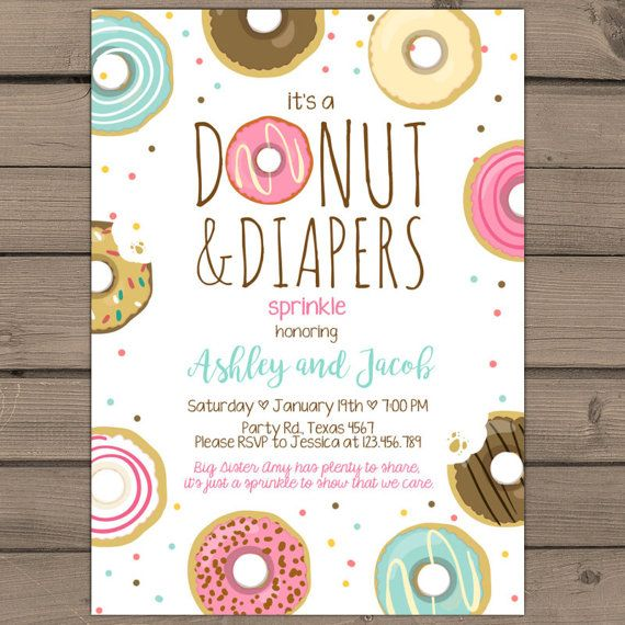 Donuts And Diapers Sprinkle Baby Shower By