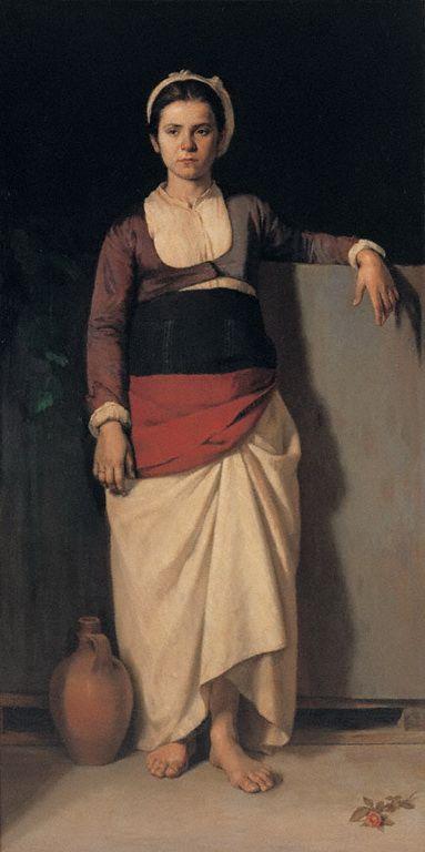Nikolaos Vokos, Greek painter 1859-1902 - Country Girl, or Young Greek Girl
