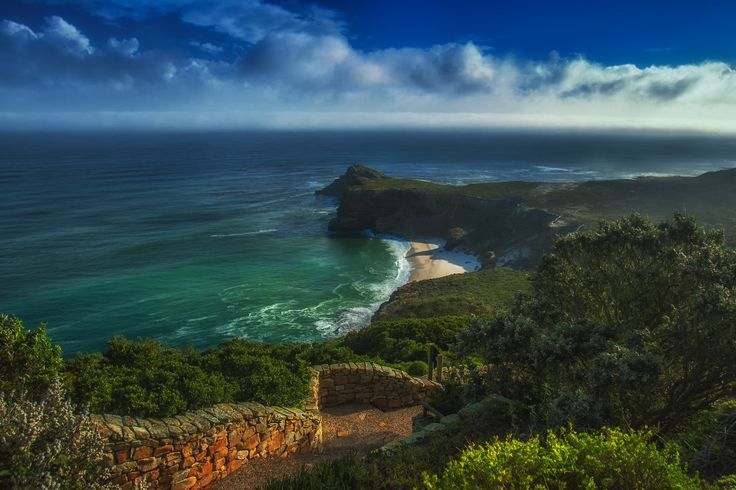 Looking out over Cape Point, South Africa
