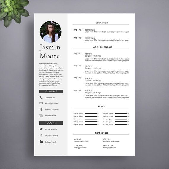 One Page Resume Template Free Download: 1000+ Ideas About Professional Resume Template On