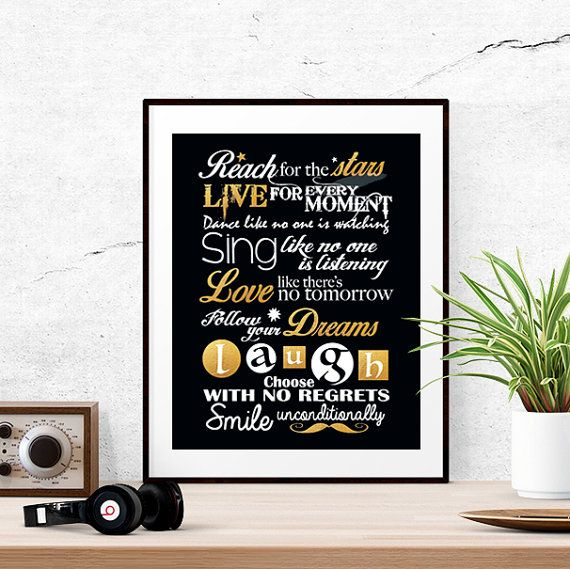 Printable gift for daughter Gold calligraphy by LUCIAandLUCIANA