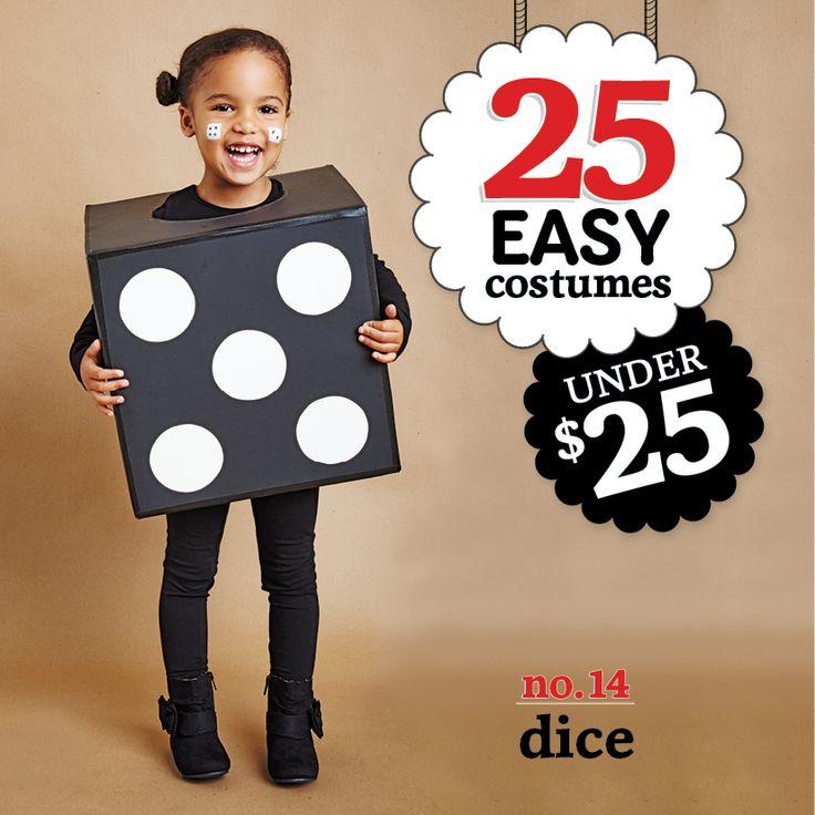 25 easy costumes under $25 - Dice - Today's Parent. http://www.todaysparent.com/family/activities/halloween-costumes-cardboard-boxes/ #halloween #costumes