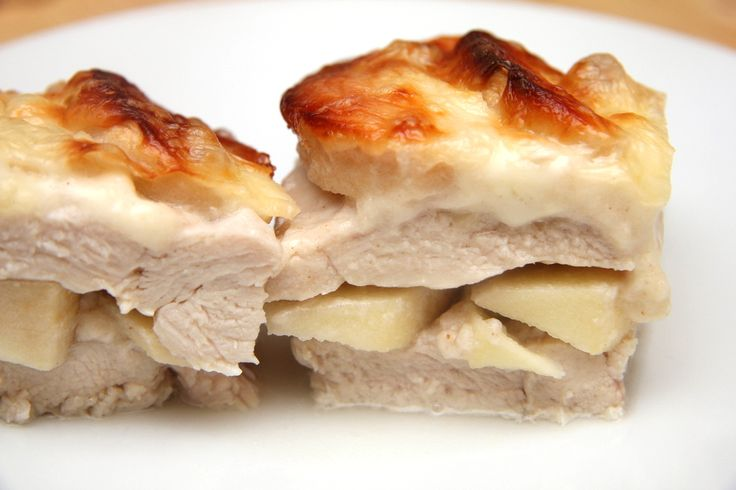 Almás-tejszínes rakott csirkemell recept