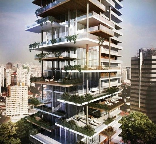 Las 25 mejores ideas sobre edificios de oficinas en for Fachadas de apartamentos modernas