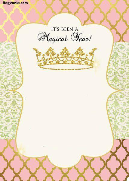 Free Princess Birthday Invitations Bagvania Free Printable