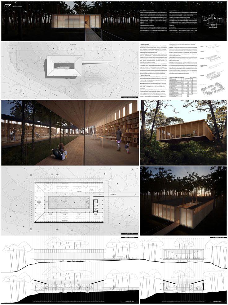 Galeria - Menção Honrosa no concurso para la Biblioteca Daniel Vidart no Uruguai / FGM Arquitectos - 4