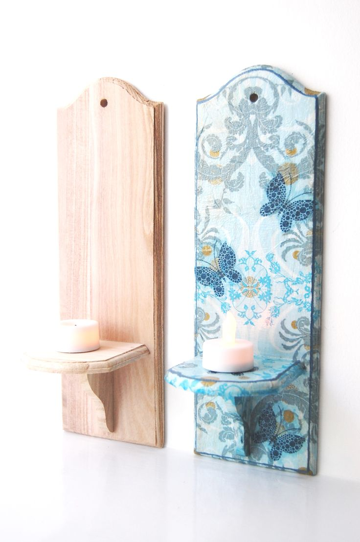 Wooden candle holders crafts - Wood Mdf Craft Blank Wall Candle Holder Paint Your Own Wood Mdf Blanks Great