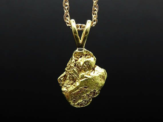 015fbc2f00ea1 real gold nugget pendant, raw gold nugget necklace, natural gold ...
