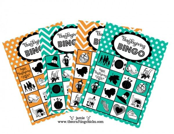 Here's a cute & FREE Thanksgiving Bingo printable game for the kids!