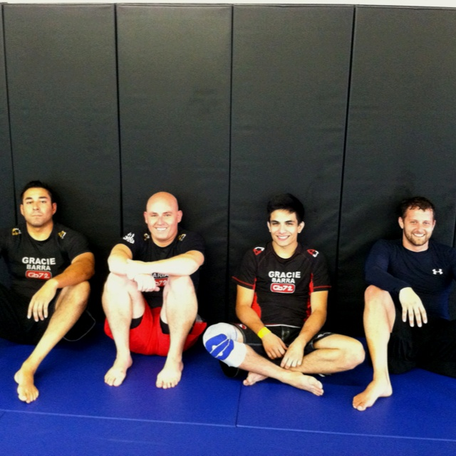 Chillin after a No gi session at Gracie Barra long beach