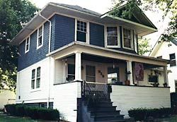 Historic Sears and Roebuck houses in Standard Edition neighborhood of Carlinville, Illinois