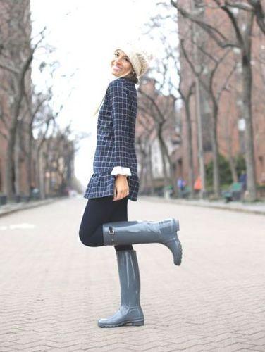 Woman Wearing Grey Hunter Boots   Beverly J. Wilson   Flickr