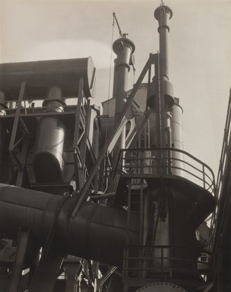 MoMA   The Collection   Charles Sheeler. Bleeder Stacks, Ford Plant, Detroit. 1927  Dog View