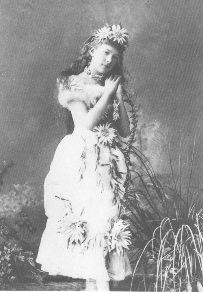 Archduchess Marie Valerie of austria in costume, youngest daughter of Elisabeth and Franz.