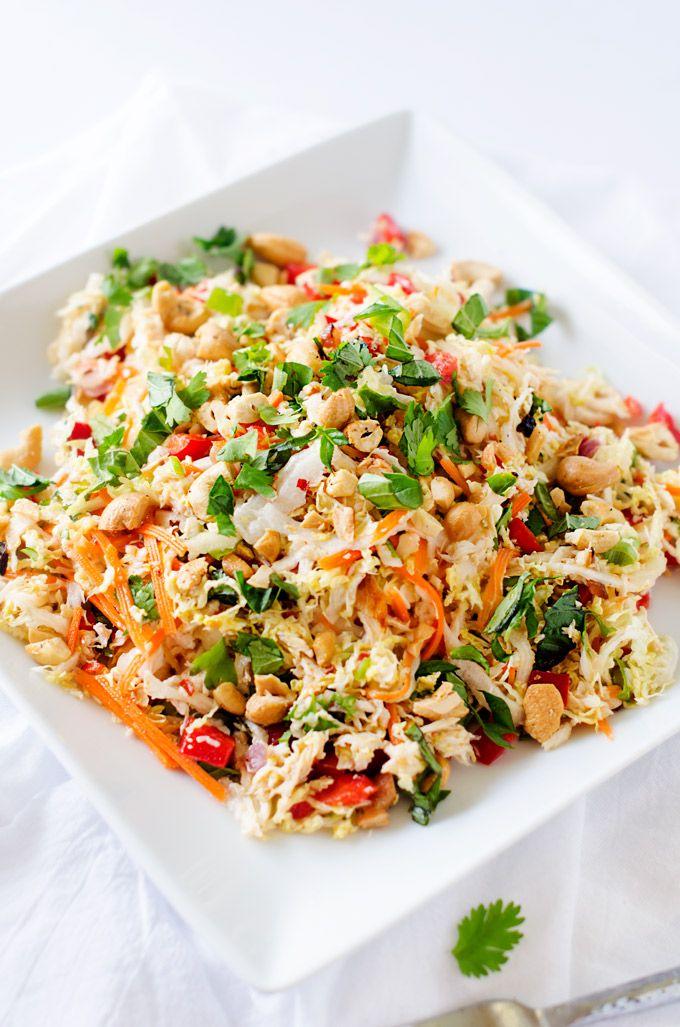 Thai Chicken Salad http://www.changeinseconds.com/thai-chicken-salad/ #glutenfree