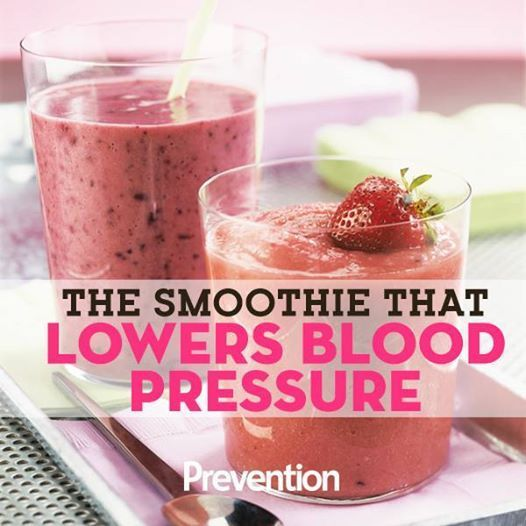 One seriously delicious way to lower your blood pressure. #bloodpressure #smoothie