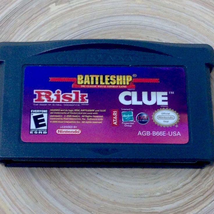 Risk Battleship Clue Game Boy Game Only Used #Nintendo