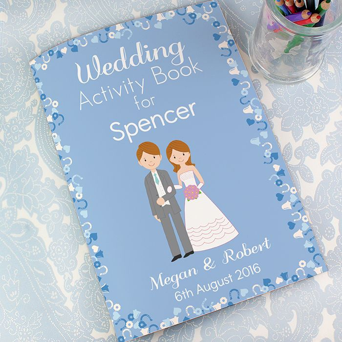 Personalised Wedding Activity Book for Boys | Wild Fig Gifts
