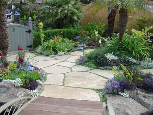 Patio Ground Cover Ideas backyard craft ideas outdoor decorating ideas Beautiful Flagstone Ideas Beautiful Flagstone Walkway With Ground Cover Planted In Between The Stones Image Id 17574 Giesendesign