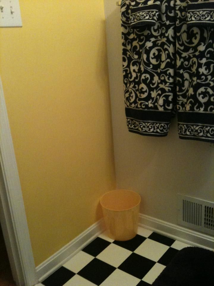 My Yellow Black and White Bathroom | bathrooms | Pinterest