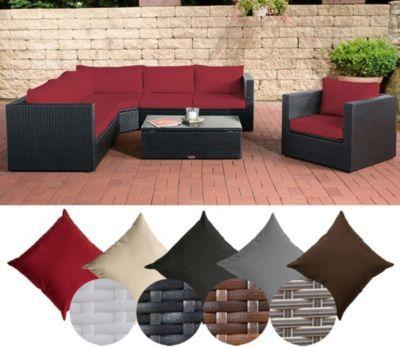 Luxury Poly Rattan Lounge Set TIBERA mit XXL Stauraum x er Sofa