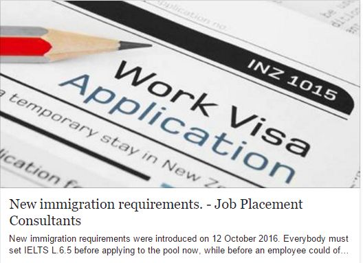 #Repost New immigration requirements. Everybody must set IELTS L.6.5 before applying to the pool now, while before an employee could of work by his/her skills for one year and then apply for residence. The points minimum is 160, what means that qualified by 10-12 years of experience welders, carpenters, painters will not be able to accumulate 160 points unless working out of Auckland (30 extra points). Click the link for more information.