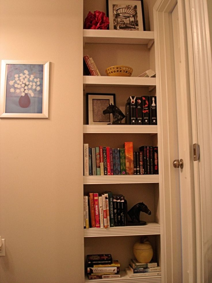 how to install shelves in a nook. A Wasteful Nook No More.