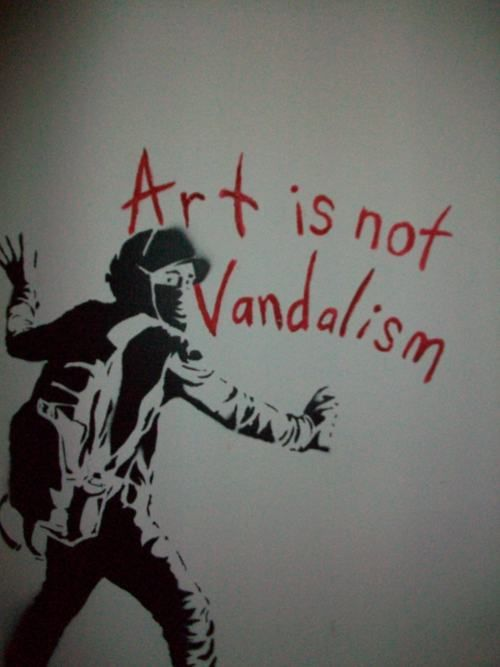 #Art is not #Vandalism